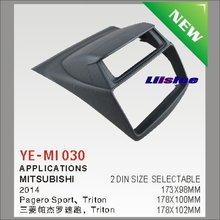 2 DIN Refitting Frame Panel For Mitsubishi Pajero Sport Triton L200 Radio Stereo CD DVD Player Navi / Dashboard ABS Fascia Kits