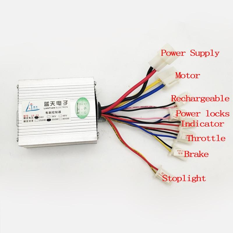 24V 36V 48V 350W Ovladač kartáčového ovladače pro elektrokola na - Cyklistika