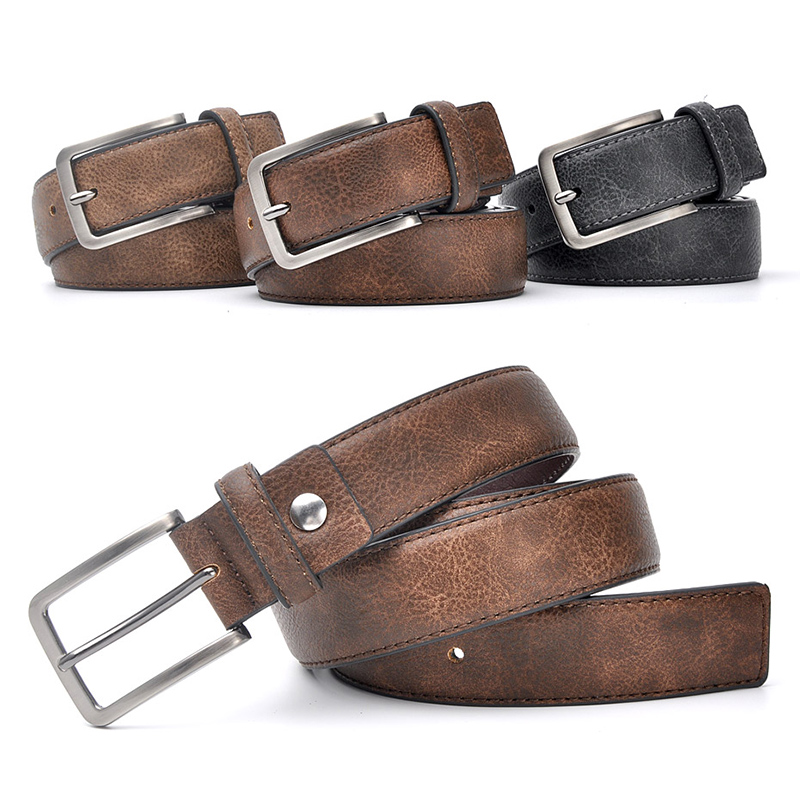 Apparel Accessories ... Belts ... 32757191478 ... 3 ...  Accessories For Men Gents Leather Belt Trouser Waistband Stylish Casual Belts Men With Black Grey Dark Brown And Brown Color ...