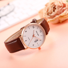 Quartz Women Watches Casual Simple Rose Gold Leather Strap Ladies Wrist Watch Female Clock Wife Gift For Relogio Feminino casual simple rose gold women watches mesh strap ladies quartz wrist watch clock wife gift for relogio feminino montre femme