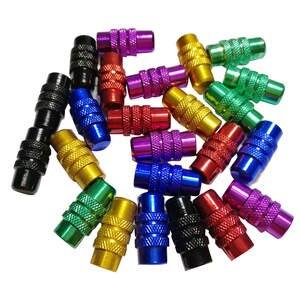 c7d44ed378e 4 Pcs 6 colors Aluminium alloy bike Valve Caps Bicycle Wheel Tyre Presta  Valve Cap