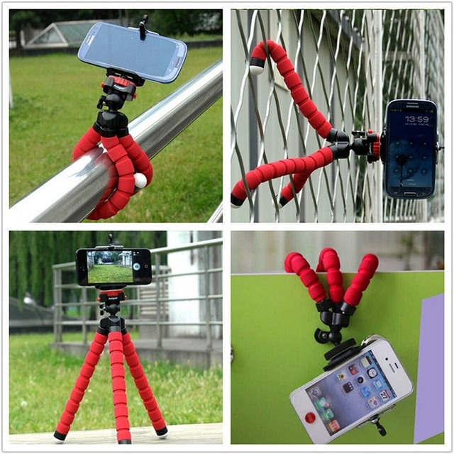 Phone Holder Flexible Octopus Tripod Bracket  Stand Mount Monopod Adjustable Accessories For Samsung iphone SONY LG NOKIA Camera
