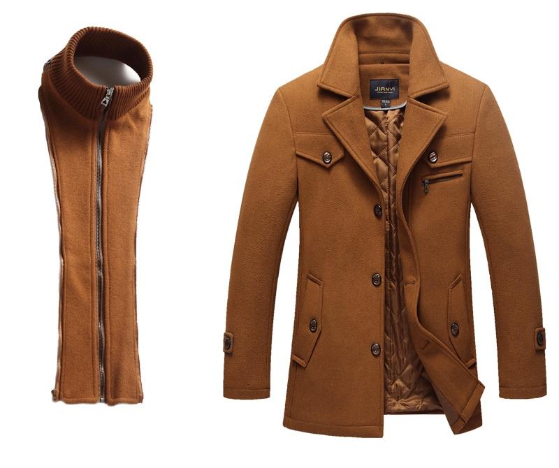 HTB16zGzaffsK1RjSszbq6AqBXXaW Winter Wool Thick Warm Coat Men Fashion Double Collar Windproof Smart Casual Mens Jackets Outwear Long Woolen Coats DropShipping