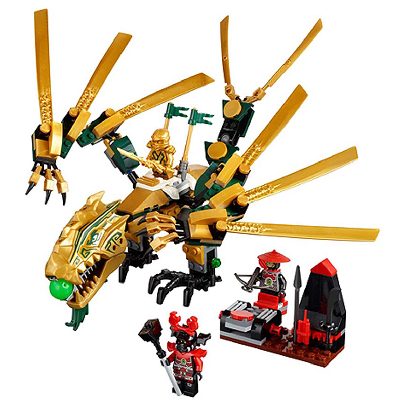 Toys for children Bela 9793 Self-locking Bricks Compatible with Legoed Ninjago The Golden Dragon 70503 Building Block Set bela 10393 my world the nether fortress model self locking building block classic architecture toy for children compatible 21122