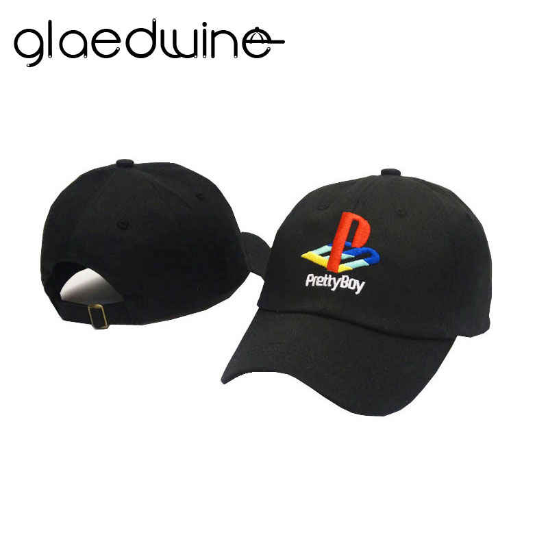Glaedwine Pretty Boy   Baseball     Cap   Playstation Hat Adjustable Snapback Strapback Dad Hats Men Women Hat Bones Masculino hip hop