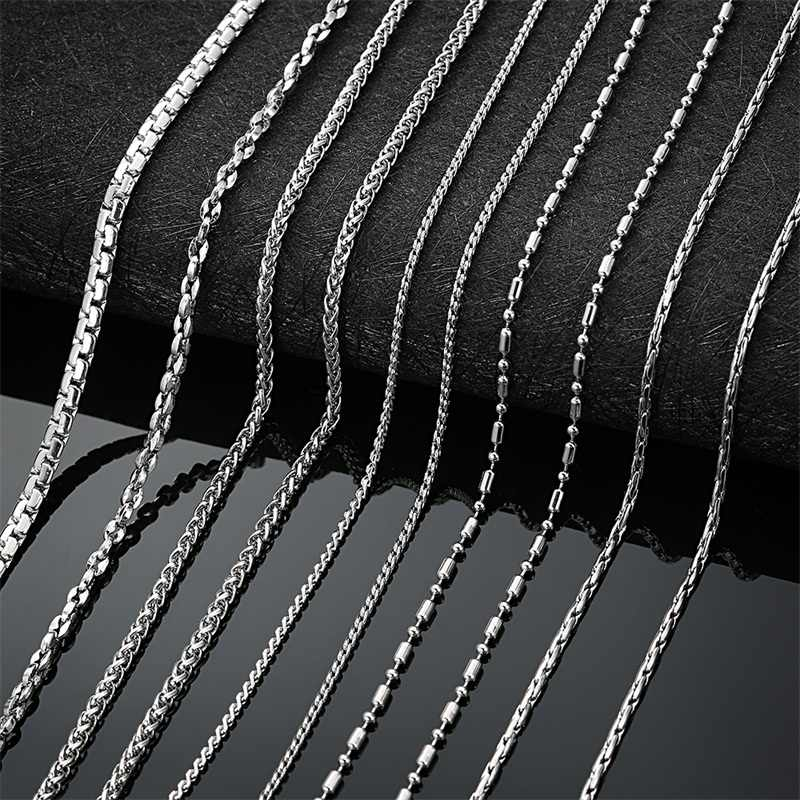 AZIZ BEKKAOUI Chain Necklace For Men Stainless Steel Necklace Bamboo Flower Basket Chain Men's Necklace Wholesale Jewelry