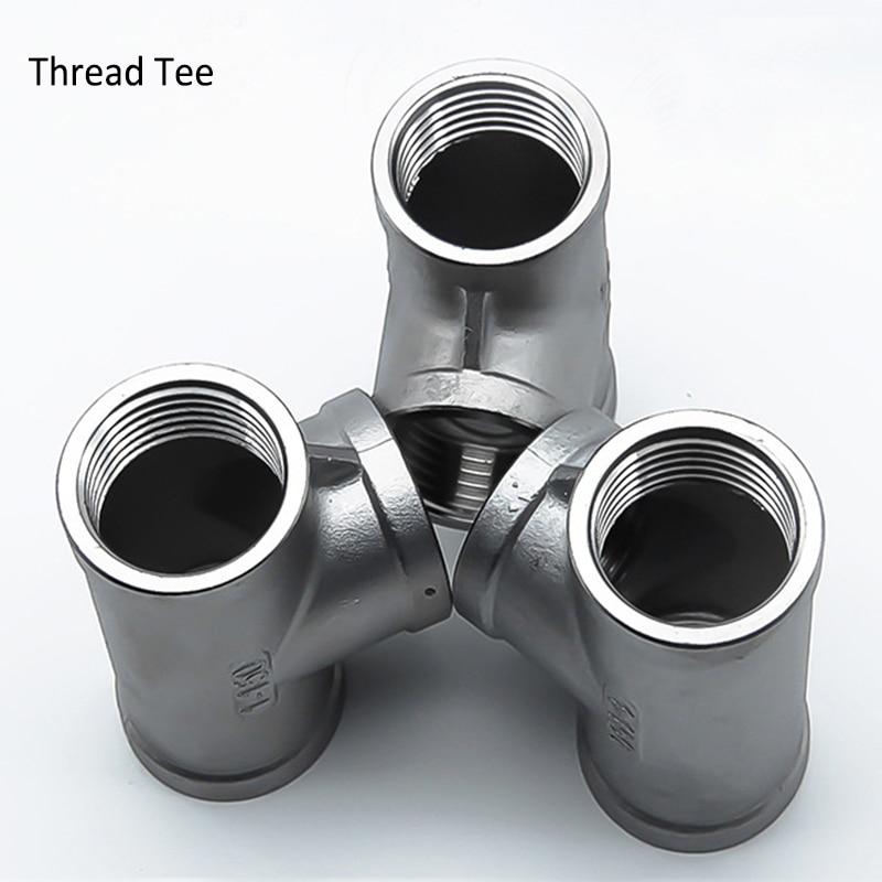 "3/4""  1""  Stainless Steel SS304 Tee , DN15  Threaded Tee, Sanitary Tee Pipe Fittings"
