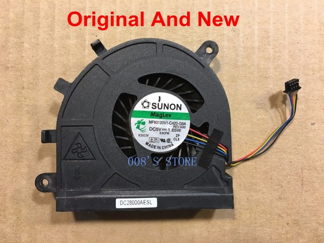 US $5 2 7% OFF|New Laptop CPU Cooling Cooler Fan For Dell Latitude E5530  Vostro 3550 Series By SUNON MF60120V1 C420 G9A DC 5V 1 65W DP/N 09HTYD-in