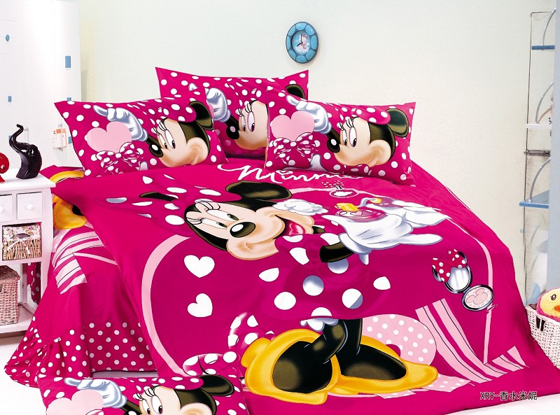 minnie mouse polka dot bedding sets single twin size bedspread