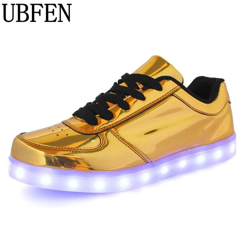 Usb caliente Colorido zapatos femme con luces led que brilla intensamente up neó