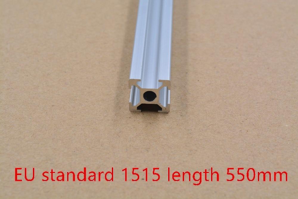 1515 Aluminum Extrusion Profile European Standard White Length 550mm Industrial Aluminum Profile Workbench 1pcs