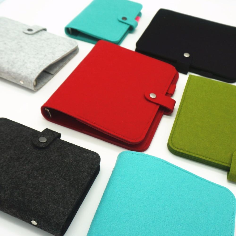Wool Felt A5 A6 Vintage Loose Leaf Refillable Spiral Notebook Diary - Block och anteckningsböcker - Foto 6