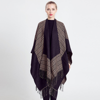Garantía de Calidad cómodo cálido invierno de las mujeres de punto de Cachemira poncho CAPES shawl Chaquetas suéter chal abrigo mt2514