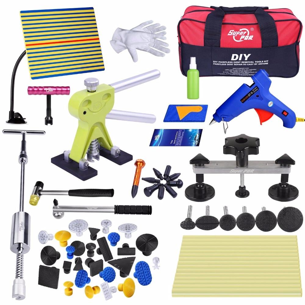 PDR tool Dent Removal Paintless Dent Repair tools kit Slide Hammer Dent Puller Glue Gun Pulling Bridge Auto repair tools