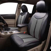 Novo luxo de couro do plutônio auto universal assento do carro capa de assento automotivo para toyota lada kalina granta priora renault logan