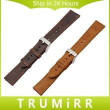 20mm 22mm 23mm Brun Véritable Bracelet En Cuir Sangle De Dégagement rapide Universel Montre Bande En Acier Inoxydable Boucle Poignet Bracelet