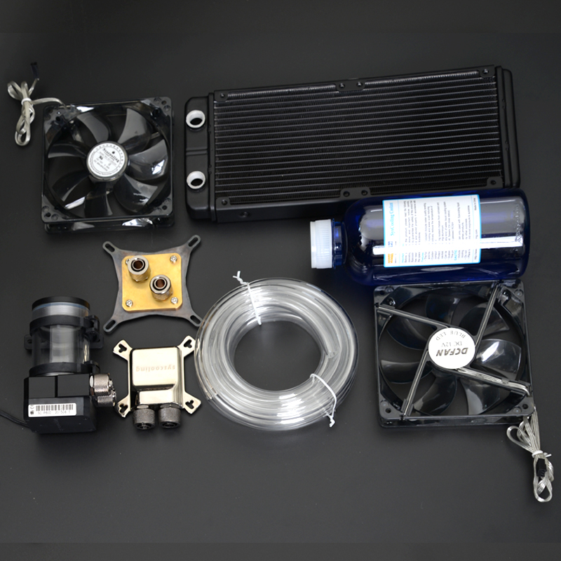 все цены на Syscooling new water block kit for CPU GPU water cooling clock онлайн