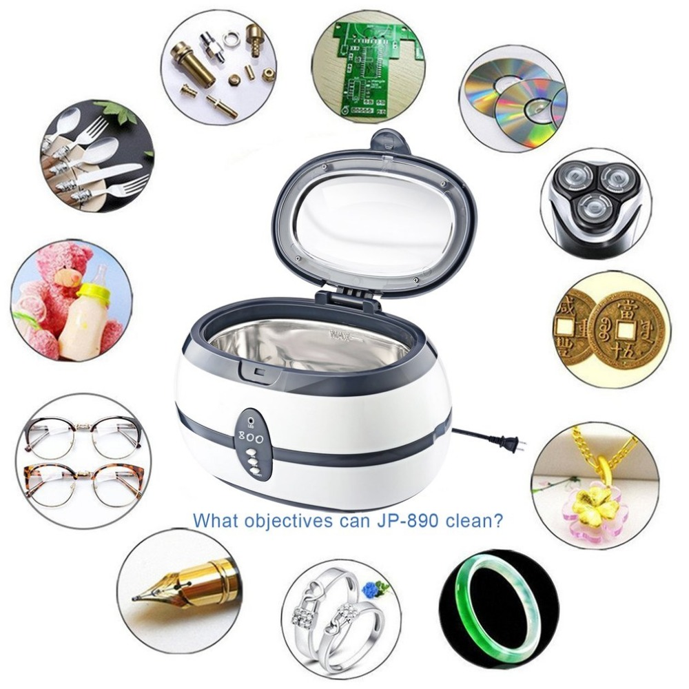 Stainless Steel 600ML Capacity 40 KHz Digital Ultrasonic Cleaner for Professional Jewelry Watch Glasses and Home Use потолочный светильник bohemia ivele 7711 22 ni drops
