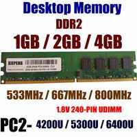 2GB DDR2 800MHz RAM 4GB 2Rx8 PC2-6400U 240p UDIMM 1GB DDR2-667MHz 2G PC2 5300 NON ECC PC2 4200 533 Desktops Memory