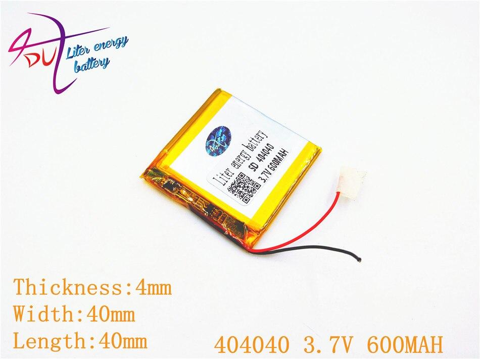 Gps Power Bank Lautsprecher 1 Stücke Mp3 Mp4 sd 404040 3,7 V 600 Mah 403840 Polymer Lithium-ion/li-ion Batterie Für Spielzeug Handy