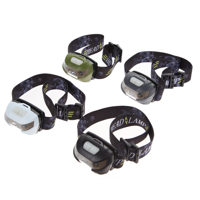 CREE Q5 + 2 Red LED 3000LM 5 Modes Mini Headlamp Rechargeable Led Headlight Flashlight Torch Lamp With USB Cable