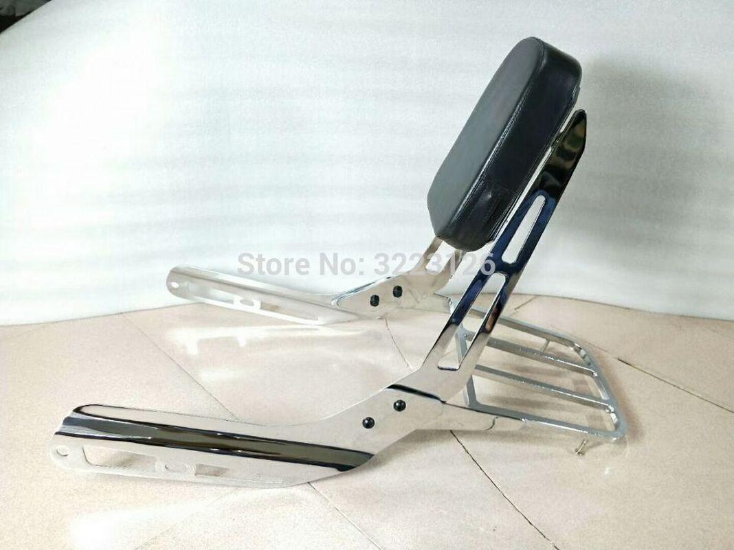 US $111 42 10% OFF|VTX1300 VTX1800 Saddlebag Support Bracket passenger  Backrest Sissy Bar Rear Luggage Rack for Honda VTX 1300 1800-in Covers &