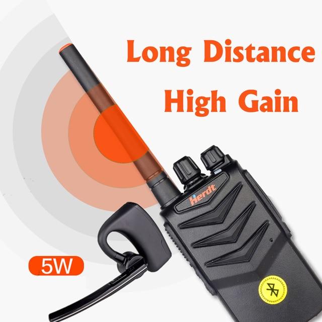 Walkie Talkie Hands free Bluetooth Headset Wireless Earphone Handheld Two Way Radio Wireless Headphones Buletooth Earpiece