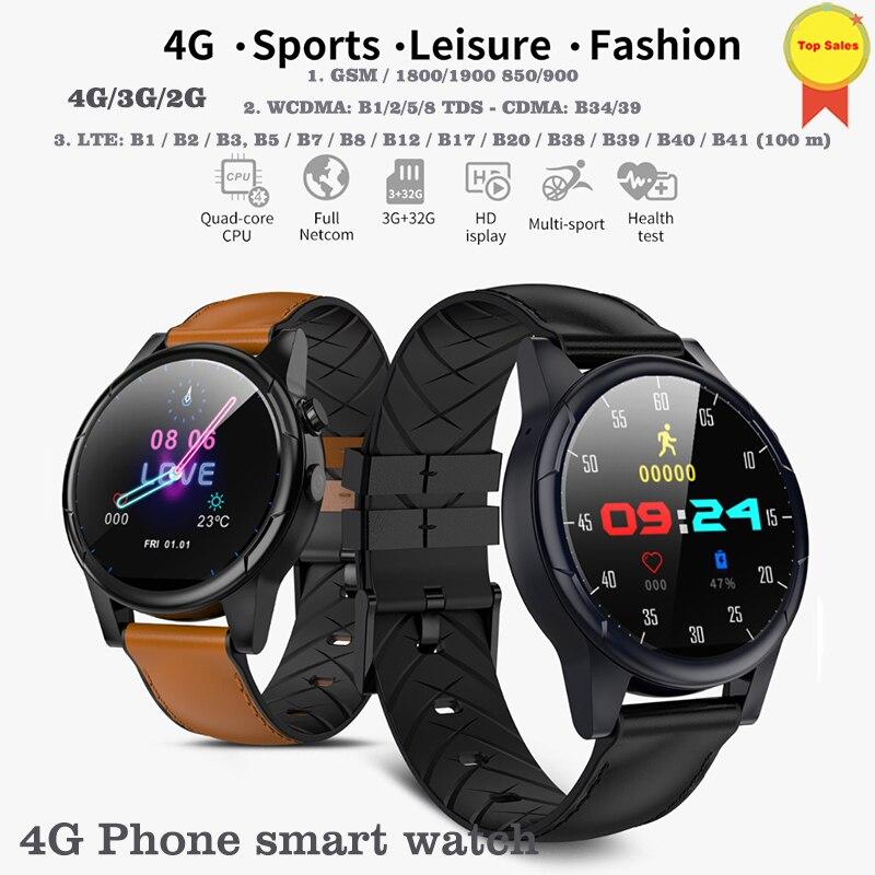 4 г умные часы Android 7,1 умные часы 1,6 дюймов Большой ips экран WiFi gps сим карта 4 г Smartwatch телефон smartwatch 2MP камера 600 мАч