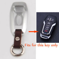 BBQ@FUKA High Qaulity Aluminum Alloy Smart Remote 5 Button Car Key Case Cover Fit For FORD LINCOLN MKZ MKC MKX