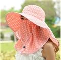 2015 moda de verano de punto redondo cap para mujer para hombre protector solar anti ultravioleta del sombrero del sol casco aire libre escalada de la cubierta completa caps