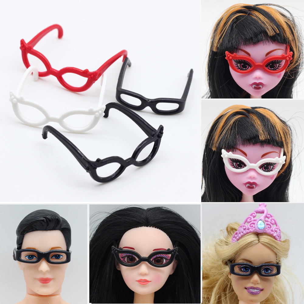 4pcs set Dolls Accessories Different Plastic Glasses For Monster High Doll For Barbie Doll the best
