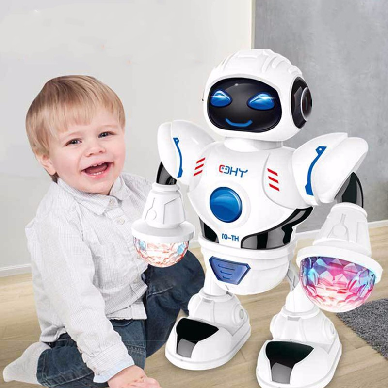 Children interactive electric dancing robot toy music lighting singing machine dog child toy holiday gift