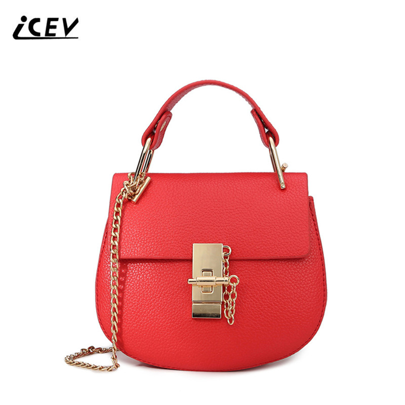 ICEV New Fashion Top Handle Bag Handbags Women Famous Brands Chains Women Messenger Bag High Quality Ladies Pig Totes Bolsos Sac icev luxury designer high quality patent split leather women s handbags famous brands lace embroidery messenger bag ladies tote