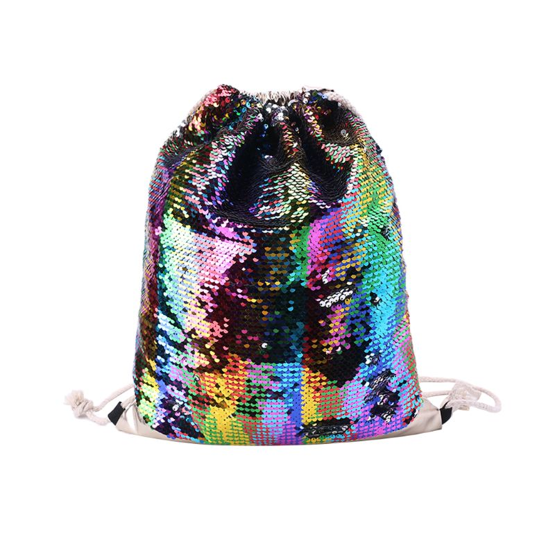 Women Sequin Drawstring Backpack Glitter Shoulder Bag Shopping Travel Bags RucksacksWomen Sequin Drawstring Backpack Glitter Shoulder Bag Shopping Travel Bags Rucksacks
