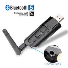 цены на Mini USB Bluetooth Transmitter with aptX Low Latency, Wireless Audio Adapter with 3.5mm Aux Jack for TV PC, Plug & Play,Dual Lin  в интернет-магазинах
