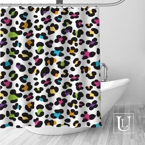 Image 3 - Big Sale New Custom Leopard Modern Shower Curtain with Hooks bathroom Waterproof Polyester Fabric