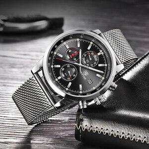 Image 3 - Benyar мужские часы Топ бренд класса люкс мужские сетчатые кварцевые Хронограф военные водонепроницаемые наручные часы мужские спортивные часы relojes hombre