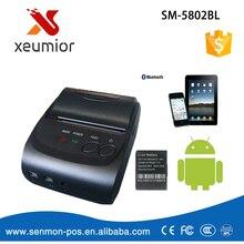 2 Pulgadas de Tiempo de Espera 5 ~ 7 días Android 4.2.2 Bluetooth Inalámbrico Móvil 58mm Mini Impresora Térmica de Recibos Portátil con SDK