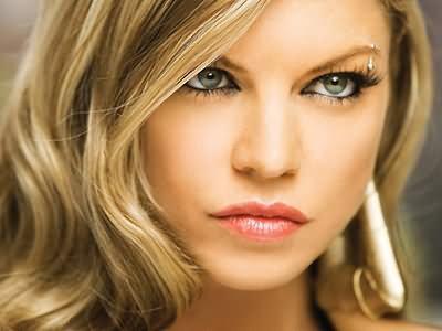 Rose gold eyebrow piercing