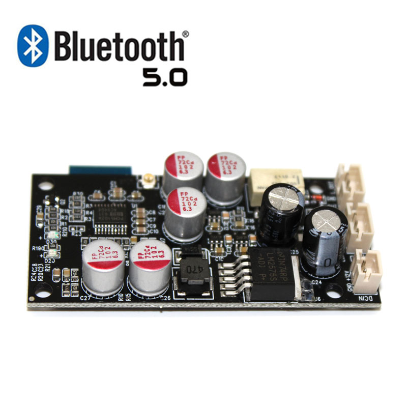 Bluetooth 5.0 Receiver HiFi Audio DAC Decoder Board AUX input PCM5102 For Amplifier 12v 24v caRBluetooth 5.0 Receiver HiFi Audio DAC Decoder Board AUX input PCM5102 For Amplifier 12v 24v caR