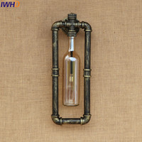 American Loft Style Creative Iron Wall Sconce Witch Switch Industrial Vintage Wall Light For Home Antique LED Wall Lamp Indoor