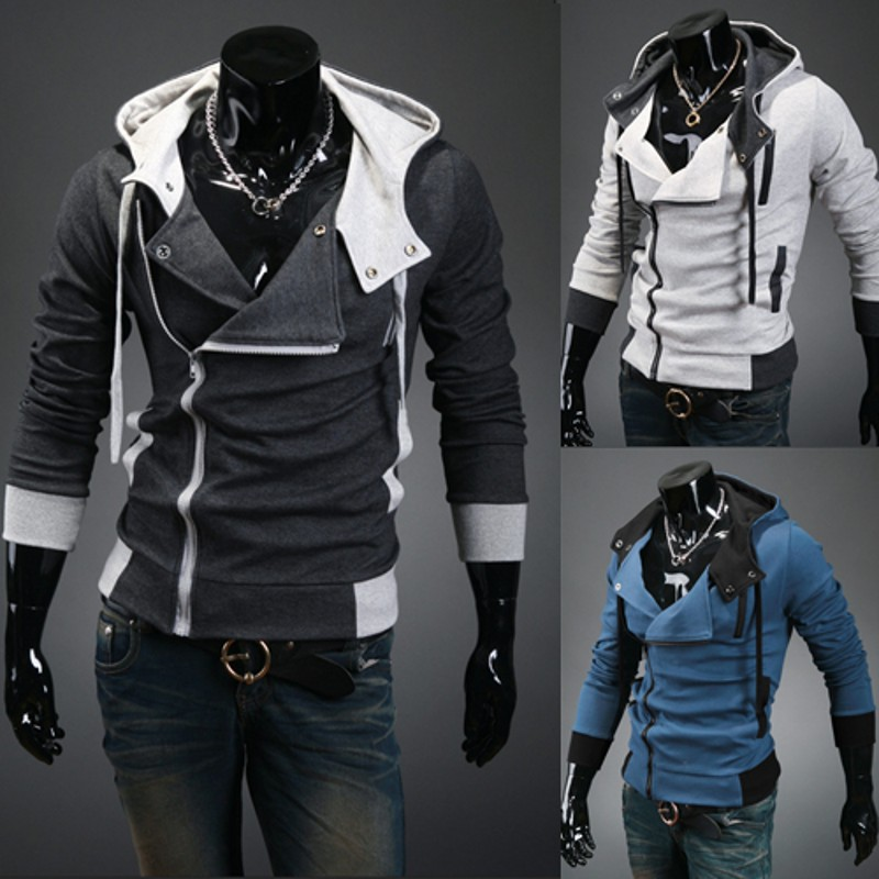 New 2017 Spring Autumn Fashion Casual Slim Cardigan Assassin Creed Hoodies Sweatshirt Outerwear Jackets Men Size