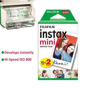 Image 2 - Fujifilm Instax Mini Film Weiß 10 20 40 60 80 100 Blätter Für FUJI Instant Photo Kamera Mini 9 Mini 11 8 7s 70 + Kostenloser Aufkleber
