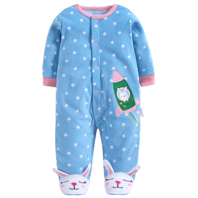 3be7ccf75 New Fashion Christmas Winter Baby Rompers Fleece Footed Baby Boys ...