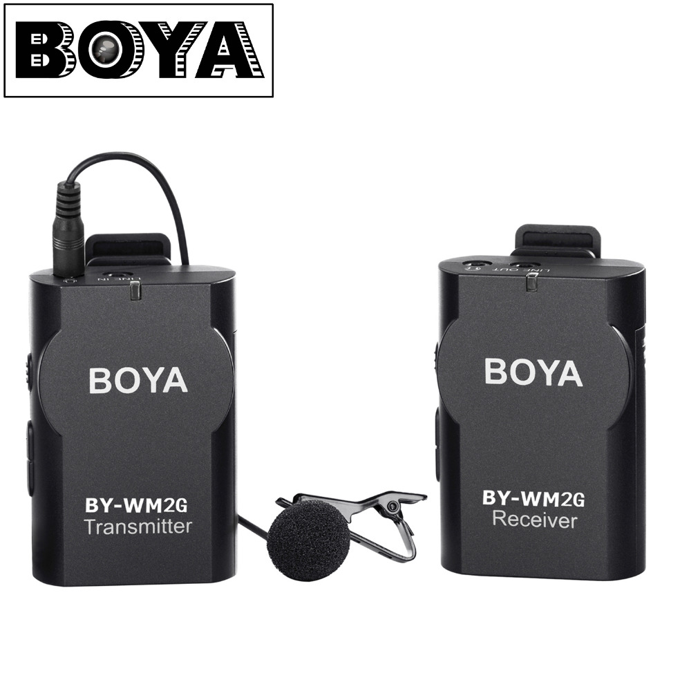 BOYA Lavalier Wireless Microphone with GoPro Cable Convertor for Podcast GoPro Hero3 3+ 4 IOS Smartphone iPad Tablet DSLR Camera цена