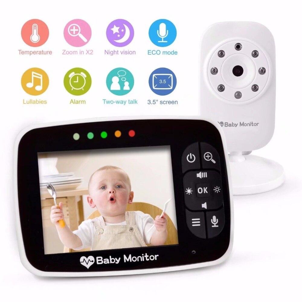 3.5Inch Wireless Intercom Temperature Display Baby Monitor Feeding Alarm