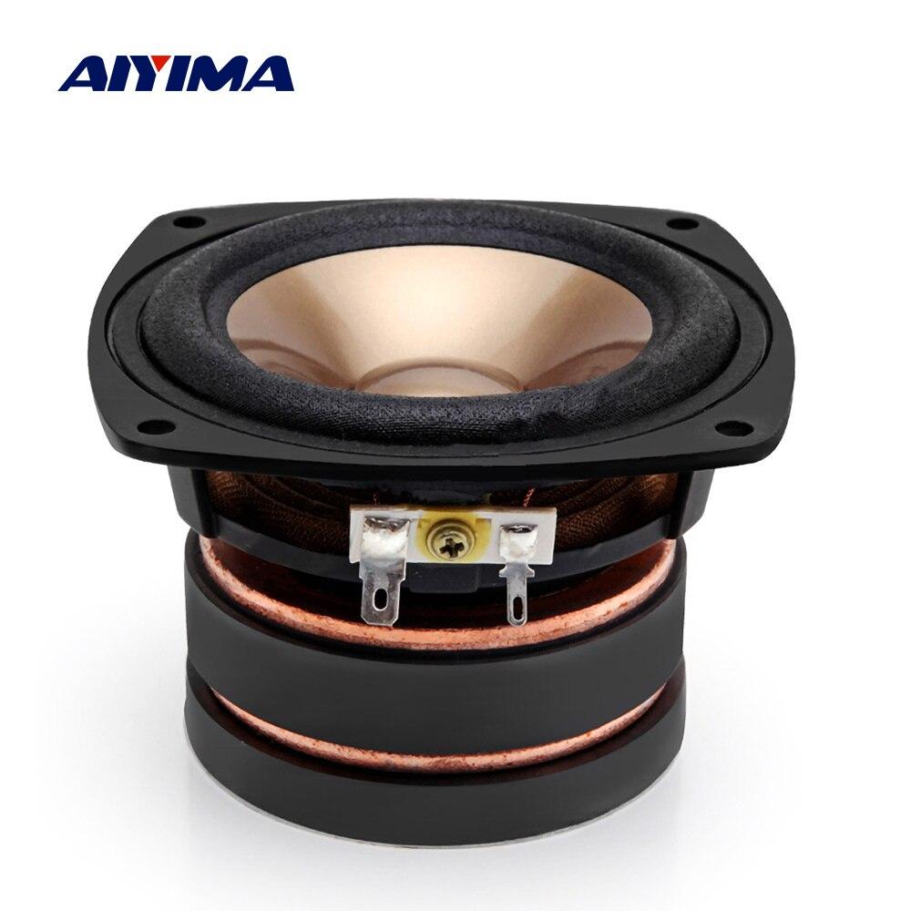 AIYIMA 1 pièces 4 pouces haut-parleur 4 ohms 100 W gamme complète haut-parleurs colonne sonore haut-parleur bricolage Home cinéma
