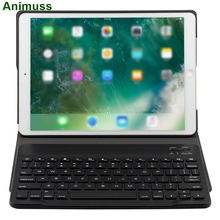 Animuss Split Design For iPad Pro 10.5 Case With Wireless Bluetooth Keyboard For iPad Folio Case Smart PU Leather Case недорого