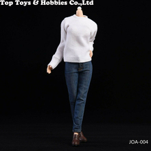 1/6 Scale Female White Casual Sweater&Jeans Clothes Set F 12'' woman Body Action Figure 1 6 scale lucifer fiona armor clothes set lxf1702 f 12 female body figure