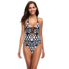 2019 Women One Piece Swimsuit High Quality Swimwear Printed Push Up Monokini Summer Bathing Suit Tropical Bodysuit Female стоимость